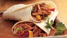 Slow Cooker Barbecued Pulled-Pork Fajitas Recipe