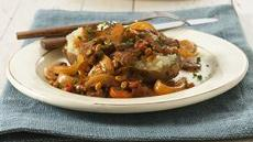 Beef and Vegetable Stroganoff-Topped Potato Recipe
