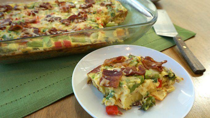 Bacon, Asparagus and Smoked Gouda Egg Bake recipe - from Tablespoon!