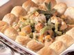 Hot Turkey Salad with Sage Biscuits