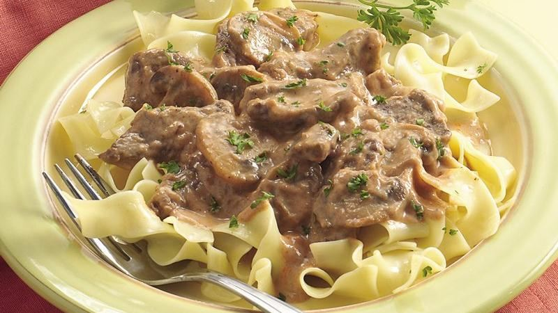 Hearty Beef Stroganoff recipe from Betty Crocker