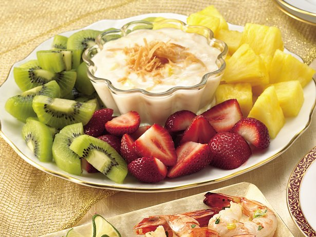 Fruit with Pia Colada Dip