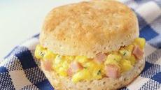 Eggs & Ham Biscuits Recipe