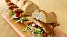 Asian-Inspired Crunchy Honey-Chicken Sub with Ginger Mayonnaise Recipe