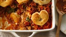Crescent Heart-Topped Lasagna Casserole Recipe