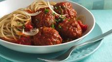 Spicy Parmesan Meatballs with Angel Hair Pasta Recipe