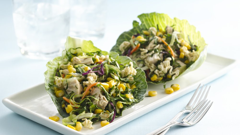 Crunchy Corn with Kale and Chicken Slaw