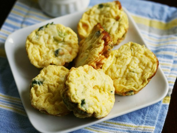 Broccoli and Cheddar Mini Frittatas