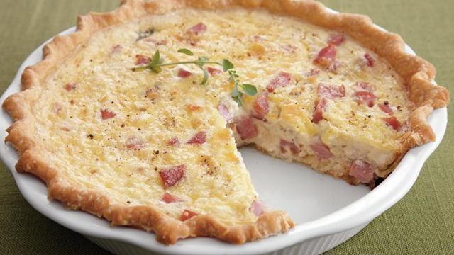 Ham and Blue Cheese Quiche recipe from Pillsbury.com