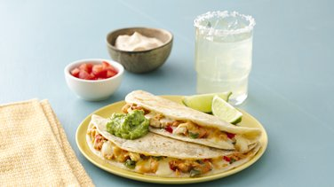 Two-Step Chicken Quesadillas and Margaritas