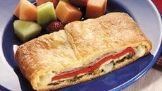 Spinach, Prosciutto and Roasted Pepper Calzone Recipe