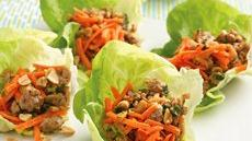 Thai Turkey Lettuce Wraps Recipe