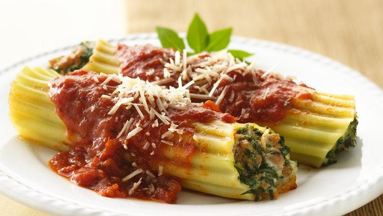 This manicotti stays heart-smart without sacrificing great taste by ...