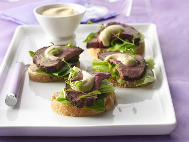 Coffee-Crusted Beef Tenderloin with Dijon Cream