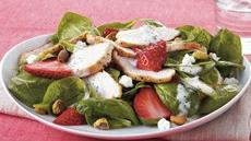 Strawberry Chicken Spinach Salad Recipe