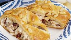 Roasted Garlic-Turkey Crescent Braid Recipe