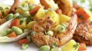 Healthified Cajun Shrimp with Mango-Edamame Salsa