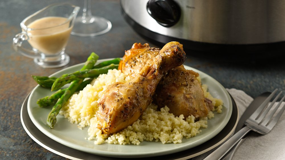 Slow-Cooker Creamy Roasted Garlic Chicken
