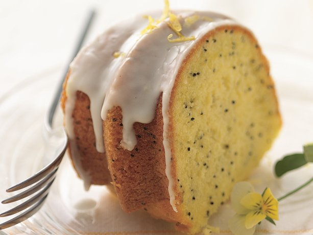 Lemon-Poppy Seed Cake with Lemon Glaze