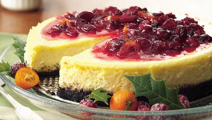 Cranberry-Orange Cheesecake recipe - from Tablespoon!