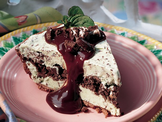 Mint Chocolate Chip Ice-Cream Pie