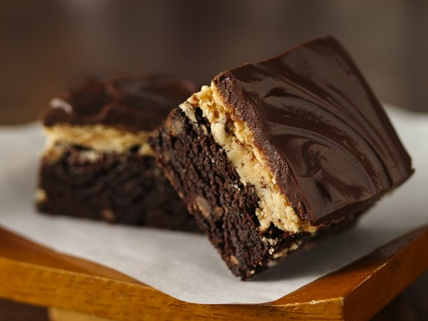 Gluten Free Peanut Butter Truffle Brownies