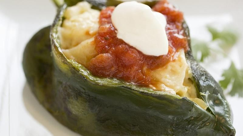 Potato Stuffed Poblanos