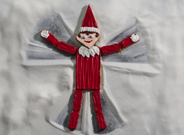 Snow Angel Elf Cookie