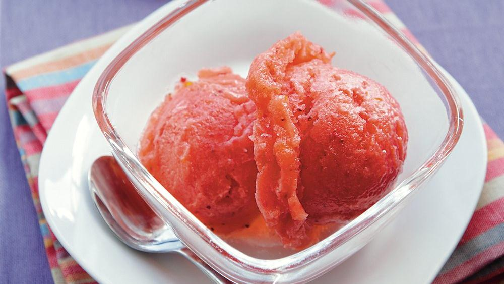 Tangerine Strawberry Sorbet recipe from Pillsbury.com