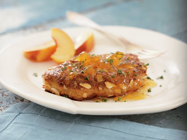 Image of Almond- And Peach-crusted Pork Chops, Betty Crocker