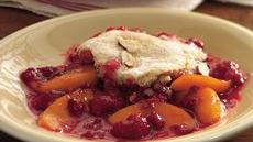 Peach Melba Cobbler Recipe