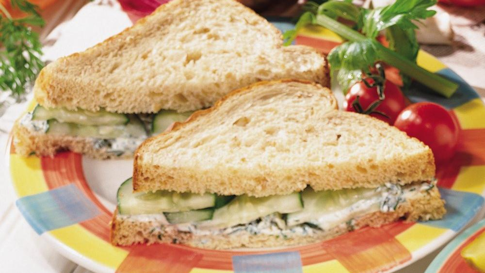 Goat Cheese and Cucumber Sandwiches