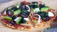 Vegetable Pizza on Cauliflower Crust
