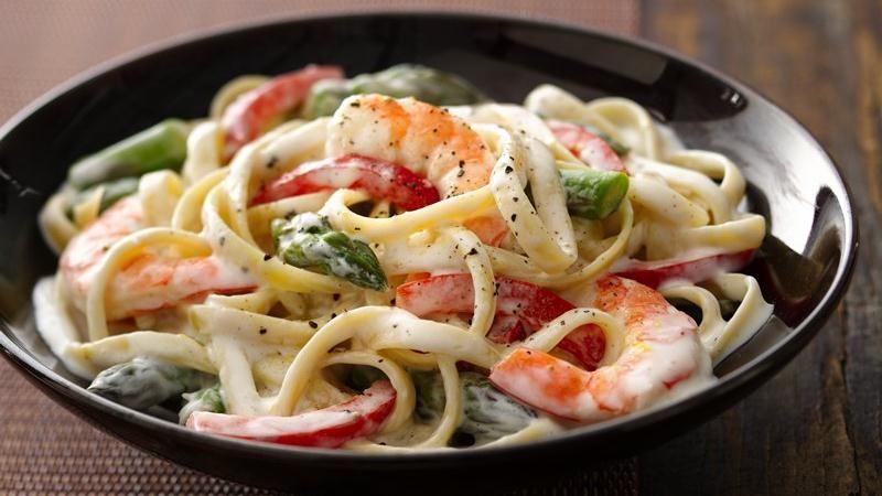 Shrimp Fettuccine Primavera