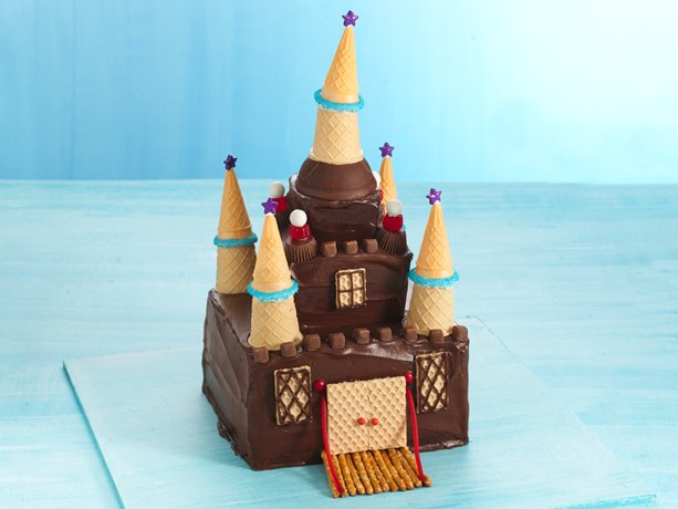 Chocolate Princess Castle Cake