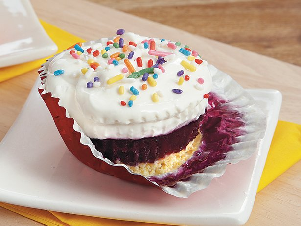 Lemon Blueberry Ice Cream Cupcakes