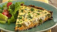 Mushroom-Crab-Asparagus Tart Recipe