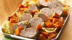Italian Pork Tenderloin with Roasted Sweet Potatoes Recipe