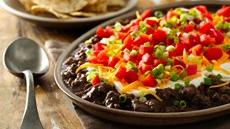 Layered Chorizo Black Bean Dip Recipe