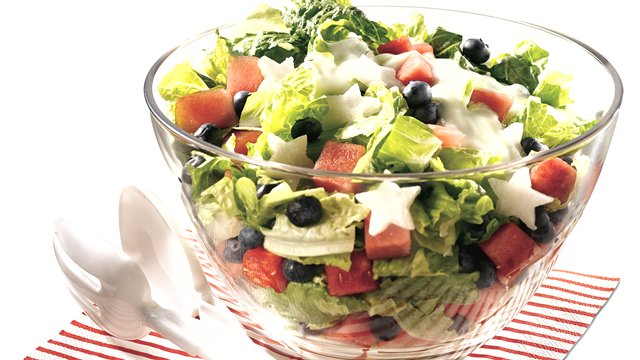 Red, White and Blueberry Salad