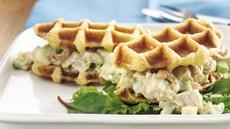Curried Chicken Salad Waffle Sandwiches Recipe