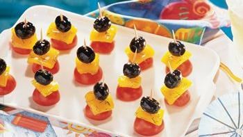 Colorful Marinated Olive Kabobs