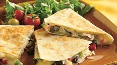 Cheesy Chicken and Bean Quesadillas Recipe