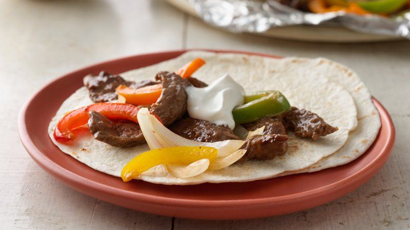 Grilled Beef Fajita Packets