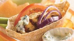 Grilled Greek Chicken Sandwiches (Cooking for 2)