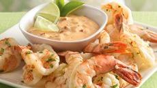 Chile-Lime Shrimp with Creamy Chipotle Dip Recipe