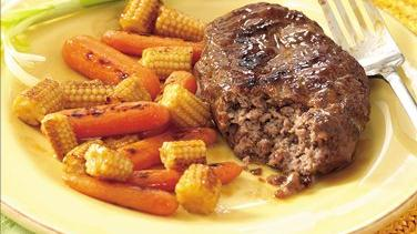 Grilled Teriyaki  Meat Loaf and Vegetable Packets