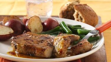 Honey Mustard-Glazed Pork Chops