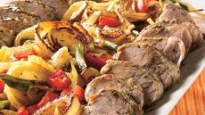 Savory Grilled Pork Tenderloins with Herbed Vegetables Recipe