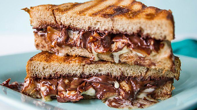 Grilled Chocolate Sandwich with Apples and Brie recipe - from ...
